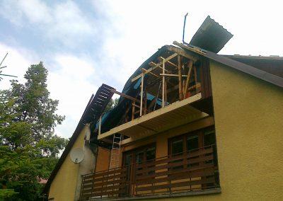 RD Rokytnice nad Jizerou, rekonstrukce střechy po požáru